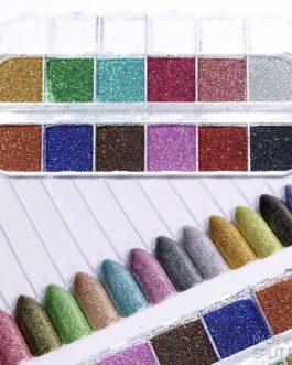 קופסא נצנצים 12 צבעים