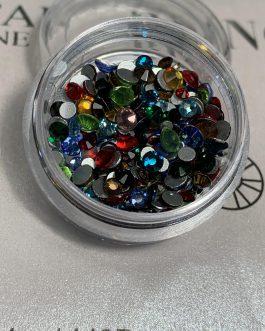 אבני קריסטל בגדלים שונים צבעונים