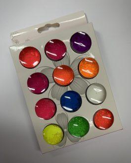 סט 12 אבקות בצבעים לאפקט מיזוג צבעים