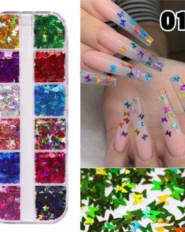 פייטים פרפרים 12 צבעים 01