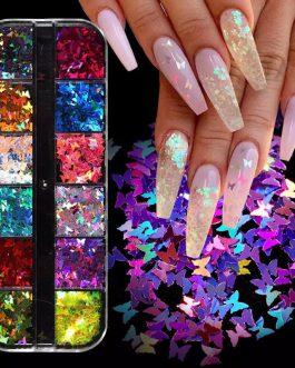 פייטים פרפרים 12 צבעים 02