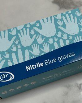 כפפות ניטריל כחולות מידה S ללא אבקה