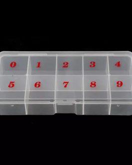 קופסה מחולקת ממוספרת לטיפסים בניה/הדבקה